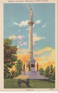 Pennsylvania York Soldiers and Sailors Monument On Penn Common