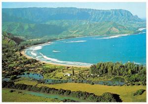 USA Island of Kauai Aerial view Na Pali Coast Island Hawaii