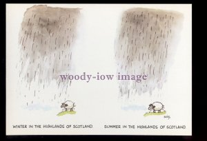BES066 - Winter in the Highlands - Summer in Highlands - Besley comic postcard