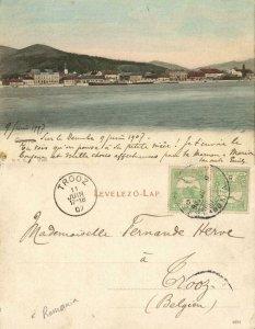 romania, ORȘOVA, Panorama from the Danube, Donau (1907) Postcard