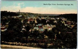 EXCELSIOR SPRINGS, Missouri  MO    BIRDSEYE VIEW  ca 1910s   Postcard