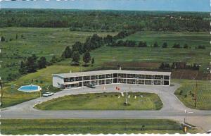 Aerial view,  Upper Canada Motel,  Hwy. 2.,  Morrisburg,  Ontario,   Canada, ...