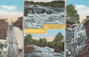 Falls in the MICHIGAN Copper Country, 30-40s; 4-views