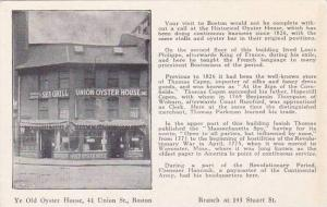 Massachusetts Boston Union Oyster House