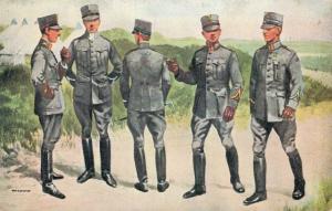 Military postcard Groep leerlingen Scholen van Reserve Officieren 02.13