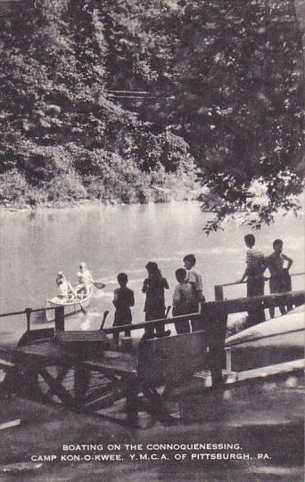 Boating On Connoquenessing Camp Kon-O-Kwee Y M C A Of Pittsburgh Pennsylvania