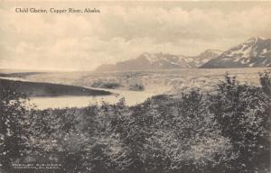 Copper River Alaska~Child Glacier (Tree Top View)~Mountains Bknd~Albertype Pc