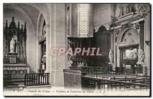 Old Postcard Eu College Chapel Tomb of Catherine de Cleves