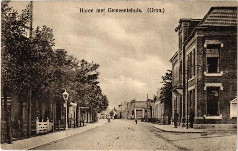 CPA Groningen Haren met Gemeentehuis NETHERLANDS (728424)