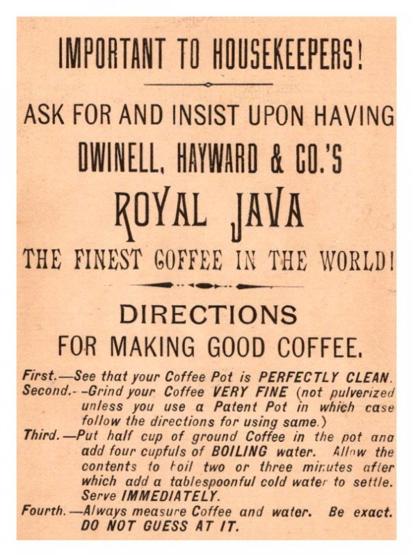 Royal Java Coffee , Dogs and cat ,  3 Trade Cards