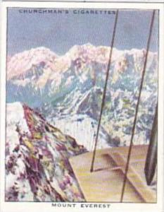 Churchman Cigarette Card Wings Over Empire No 28 Mount Everest