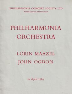 Lorin Maazel John Ogdon 1963 London Classical Theatre Programme