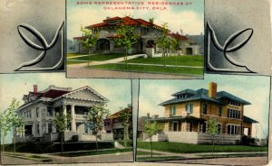 Oklahoma City, Oklahoma - Views of three Residences in the City - in 1909