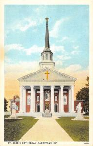 Bardstown Kentucky St Joseph Cathedral Street View Antique Postcard K93252