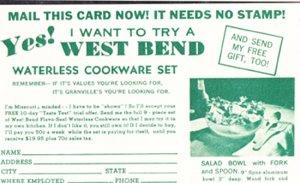 SAN FRANCISCO - GRANVILLE'S JEWELERS / Mail Order ADVERTISEMENT Salad Bowl 1950s
