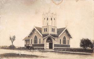 Big Stone City South Dakota~Tabor Evangelical Church~Vintage Car~1909 RPPC