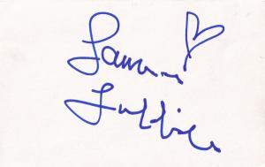 James Hazeldine Londons Burning Hand Signed Card