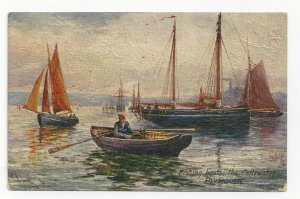 TUCK 7840, 1900-10s; Picturesque DEVON, England, Fishing Boats in the Cattewater