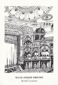 Wood Green Empire London All The Worlds A Stage Theatre Postcard