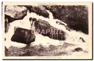 Old Postcard Fountain of Vaucluse Cascadre near the Birth of the source
