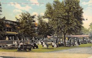 Cleveland Ohio~Euclid Beach Amusement Park Picnic Area~Postcard