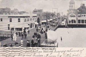 New Jersey Atlantic City The Boardwalk From Steeptechase Pier 1907