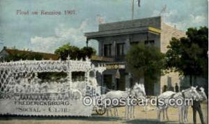 Float on Reunion 1907 Parade, Parades, Postcard Postcards Unused