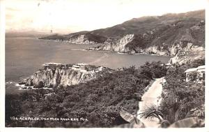 Mexico Old Vintage Antique Post Card Acapulco 1961