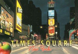 Kodak Camera Illuminated Sign at Times Square Postcard