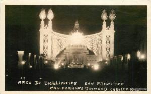 1925 Arco De Brilliantes Diamond 1925 Night lights San Francisco California 9388