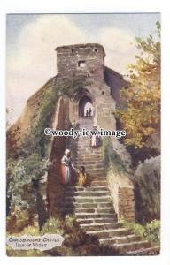 h1574 - Isle of Wight - Artist Drawn Carisbrooke Castle Keep - Postcard - Tuck's