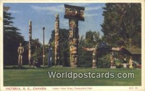 British Columbia, Canada Indian Totem Poles, Thunderbird Park Victoria  India...