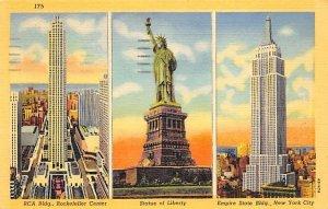 Statue of Liberty Post Card New York City, USA 1943