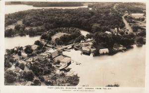 RP: PORT CARLING , Muskoka , Ontario , 1947 ; From the Air