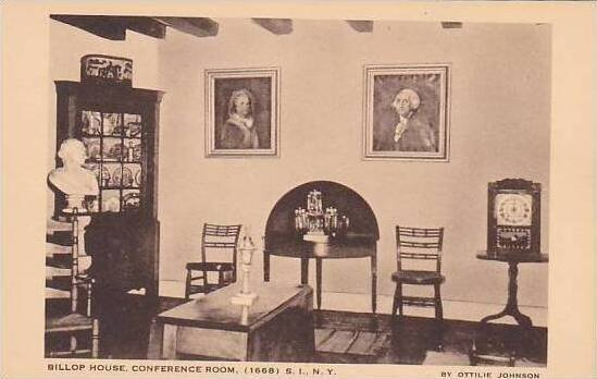 New York Staten Island The Billop House Confrence Room 1668 Artvue