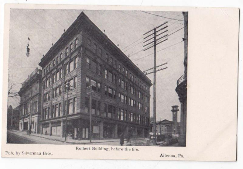 Rothert Building before the fire, Altoona PA