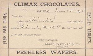 Climax Chocolates & Peerless Wafers , Fobes, Hayward & Co. , BOSTON , Massach...