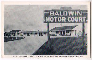 Baldwin Motor Court, Fredericksburg VA