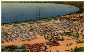 Florida  Camp Blanding ,Aerial view Hospital and Kingsley Lake