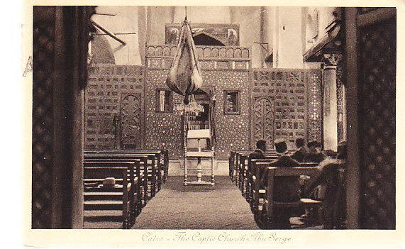 Egypt - Interior of the Coptic Church Abu Serge - Cairo