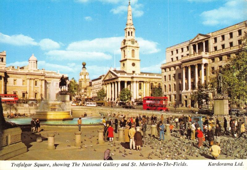 London Postcard Trafalgar Square & The National Gallery by Kardorama Ltd T5