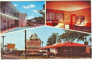 Statesboro GA Motor Lodge Interior View Howard Johnson's Ice Cream Postcard