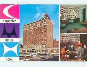 Unused Pre-1980 OLD CARS & CARPENTER HOTEL & RESTAURANT Manchester NH Q4459-13