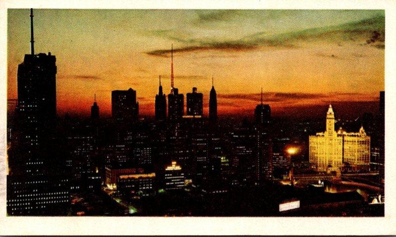 Illinois Chicago Skyline Chevrolet Travel Card