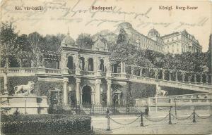 Hungary Budapest Kir. var-bazar 1914 postcard