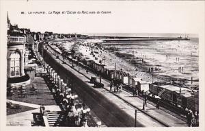 France Le Havre La Plage et l'Entree du Port vues du Casino Photo