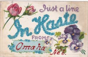 Nebraska Omaha Just A Line 1912