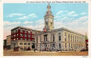 Huron County Court House & Citizens National Bank Norwalk, Ohio, USA Postcard...