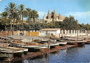 Spain Mallorca Baleares Palma, La Catedral desde el Muelle de Pescadores