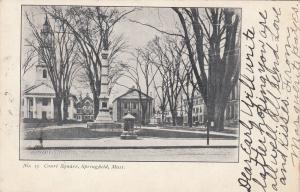 SPRINGFIELD , Massachusetts, PU-1906 ; Court Square